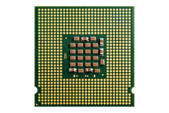Datorprocessor och element på vit bakgrund royaltyfri bild