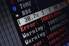 datorprov Arkivbild