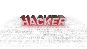 Datorsäkerhet hackers Säkerhet på insats royaltyfri illustrationer
