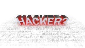 Datorsäkerhet hackers Säkerhet på insats vektor illustrationer