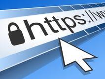 Datorskärm med adressstången av rengöringsdukwebbläsaren Arkivfoton