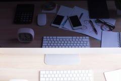 Datorskärm med reflekterade objekt Arkivfoton