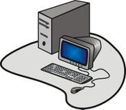datorskrivbord Arkivfoto