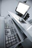 datorskrivbord Fotografering för Bildbyråer