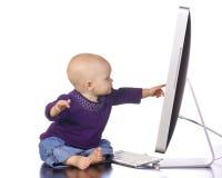 datorspädbarnskrivande Royaltyfri Bild