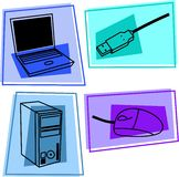 datorsymboler vektor illustrationer