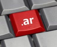Datortangent - internetändelse av Argentina arkivfoton