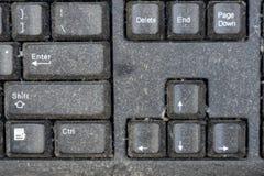 Datortangentbord ett dammigt royaltyfri bild
