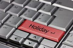 Datortangentbord med ferietangent arkivfoto