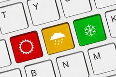 Datortangentbord med vädertangent Royaltyfria Foton