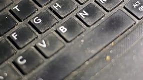 Datortangentbordet är platsen av många farliga bakterier arkivfoton