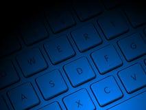 Datortangenter med blå belysning Fotografering för Bildbyråer