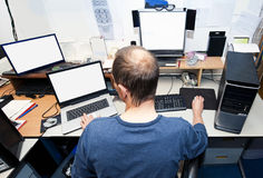 datortekniker Arkivbild