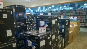 Datorutrustning och kringutrustningar Arkivbild