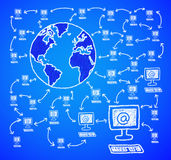 datorvärld Arkivfoto