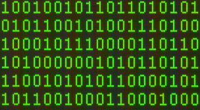 Datos binarios sobre modelo inconsútil del LCD Imágenes de archivo libres de regalías