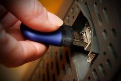 Datos de copiado de memoria USB Fotografía de archivo