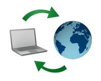 Datos de intercambio con el mundo Imágenes de archivo libres de regalías