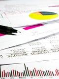 Datos de la declaración de finanzas Imagen de archivo
