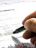 Datos de la declaración de finanzas Imagenes de archivo