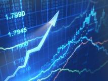 datos de las finanzas Foto de archivo