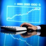 Datos de las finanzas Fotografía de archivo