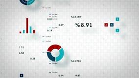 datos de negocio 4K que enrollan blanco ilustración del vector