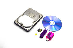 Datos del almacenaje sobre aislado Imágenes de archivo libres de regalías