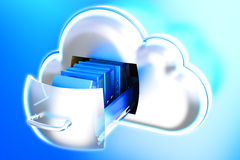 Datos del almacenamiento de la nube ilustración del vector