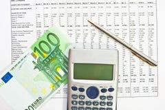 Datos del análisis de las finanzas Fotos de archivo libres de regalías