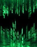 Datos del código binario que fluyen en la visualización Imágenes de archivo libres de regalías