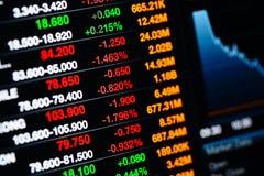 Datos del mercado de acción Imagen de archivo libre de regalías