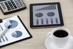 Datos del mercado de acción Foto de archivo libre de regalías
