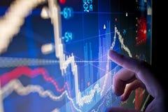 Datos del mercado de acción Fotos de archivo