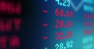 Datos del mercado de acción - valores de bolsa - comercio del mercado