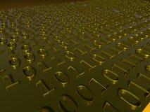 Datos en dígitos binarios Foto de archivo libre de regalías