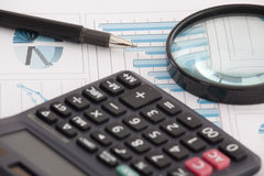 Datos financieros Imagen de archivo