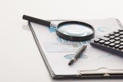 Datos financieros Imágenes de archivo libres de regalías
