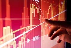 Datos financieros del mercado de acción Imagen de archivo libre de regalías