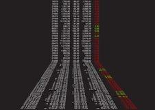 Datos financieros en perspectiva libre illustration
