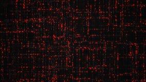 Datos grandes del código digital de los números rojos que brilla intensamente ilustración del vector