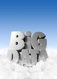 Datos grandes en nubes Imagen de archivo libre de regalías