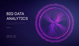 Datos grandes Fondo de la tecnología de la inteligencia empresarial Algoritmos del código binario profundamente que aprenden anál libre illustration