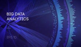 Datos grandes Fondo de la tecnología de la inteligencia empresarial Algoritmos del código binario profundamente que aprenden anál stock de ilustración