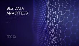 Datos grandes Fondo de la tecnolog?a de la inteligencia empresarial Algoritmos del c?digo binario profundamente que aprenden an?l stock de ilustración