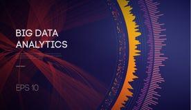 Datos grandes Fondo de la tecnolog?a de la inteligencia empresarial Algoritmos del c?digo binario profundamente que aprenden an?l ilustración del vector
