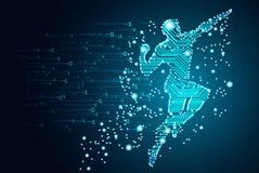 Datos grandes y concepto de la inteligencia artificial stock de ilustración
