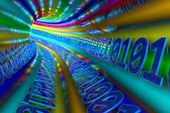 Datos multicolores del túnel
