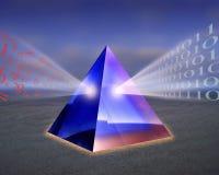 Datos que clasifican la prisma stock de ilustración