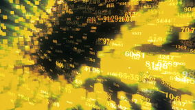 Datos y números - los datos y el número valora el pasar a través de ciberespacio